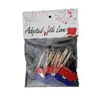 Haiti Toothpick Flags