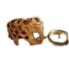 India Wooden Elephant Keychain