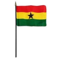 Ghana Miniature Desk Flag 4inx6in