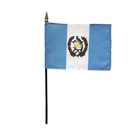 Guatemala Miniature Desk Flag 4inx6in