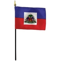 Haiti Miniature Desk Flag 4inx6in
