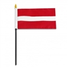 Latvia Miniature Desk Flag 4inx6in