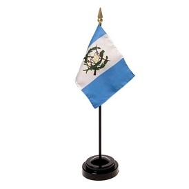 Guatemala Mini Flag 4inx6in with Stand