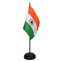 India Mini Flag 4inx6in with Stand