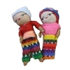 Guatemala Set of 2in Worry Dolls