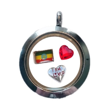 Ethiopia Loved Floating Locket