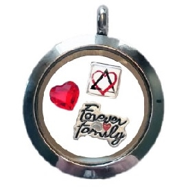 Forever family floating charm locket aloadofball Image collections