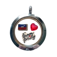 Haiti Family Floating Locket
