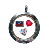 Haiti Loved Floating Locket