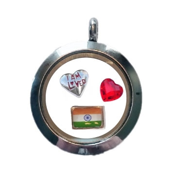 India Loved Floating Locket