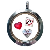 I Am Loved Floating Charm Locket