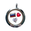 Russia Loved Floating Locket