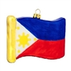 Philippines Flag Replica Glass Ornament