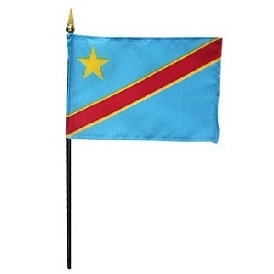 DR Congo Miniature Desk Flag