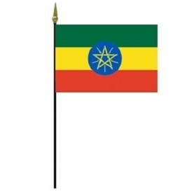 Ethiopia Miniature Desk Flag