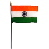 India Miniature Desk Flag 4inx6in