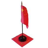 China Mini Flag 4inx6in with Stand