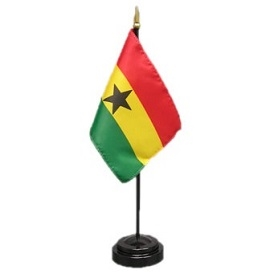 Ghana Mini Flag 4inx6in with Stand