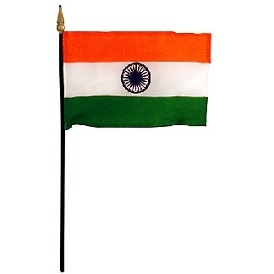 India Mini Flag With Stand