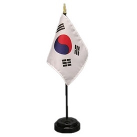 South Korea Mini Flag 4inx6in with Stand
