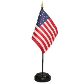 USA Mini Flag 4inx6in with Stand