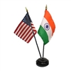 India/USA Mini Flag 4inx6in Combo