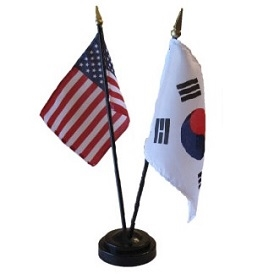 South Korea/USA Mini Flag 4inx6in Combo
