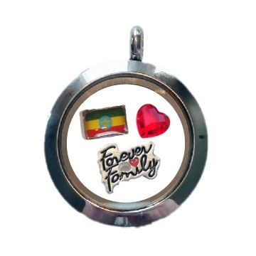 Ethiopia Family Floating Locket