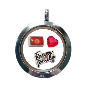 Kyrgyzstan Family Floating Locket