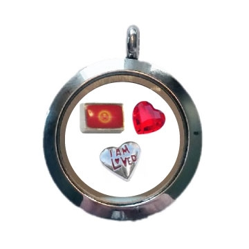 Kyrgyzstan Loved Floating Locket