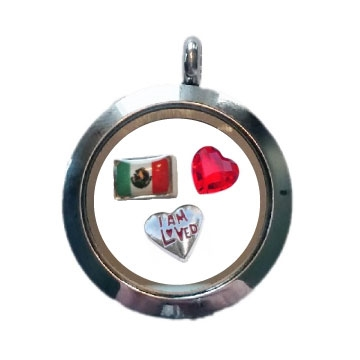Mexico Loved Floating Locket