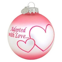 Adopted with Love Pink Ornament