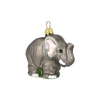 Miniature Elephant Glass Ornament