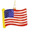 USA Flag Replica Glass Ornament
