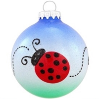 Ladybug Trail Glass Ornament