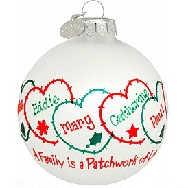 Patchwork of Love Family Ornament
